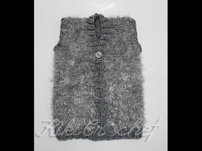 Crochet Furry Vest (pt 2)
