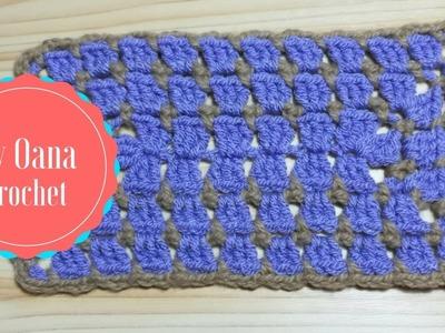 Crochet rectangle granny variation by Oana