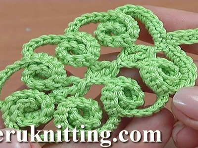 Crochet Simple Leaf With Spirals Tutorial 47