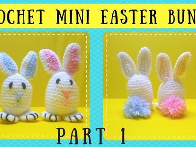 Crochet Tutorial: How To Crochet A Mini Easter Bunny Part 1 - CAL