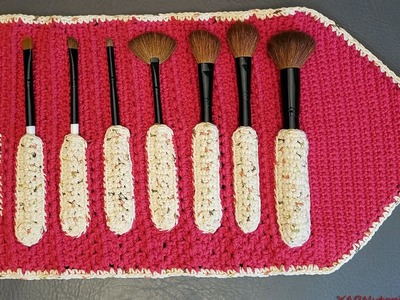 Crochet Tutorial: Make-up Brush Case