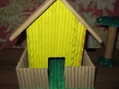 DIY #1 How to make a paper house using recycled paper