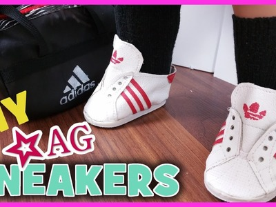 DIY HOW TO MAKE AMERICAN GIRL DOLL ADIDAS SNEAKERS | BlueprintDIY Kids