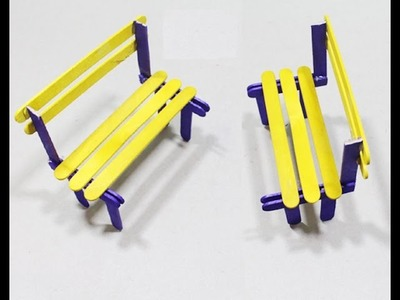 DIY How to make popsicle stick best Bench easy!!!!!