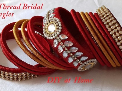 DIY || how to make silk thread bridal bangles at home || making of silk thread bangles