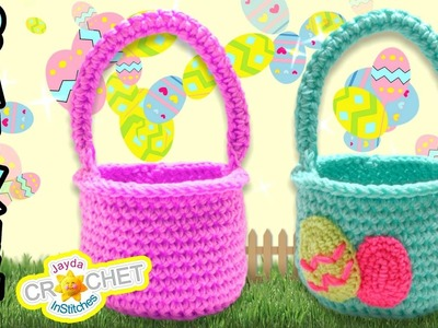 Easter Egg Hunt Crochet Basket Tutorial