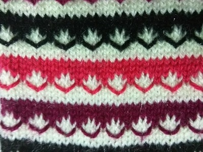 Easy Multicolor Knitting Pattern No. 7 | Hindi