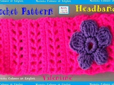 "Headband crochet Pattern ""Valentine"" by Maricita Colours in English"