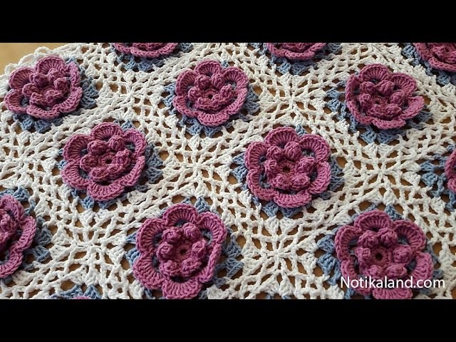 How to crochet a baby blanket for beginners Part 3 VERY EASY Tutorial Step by step