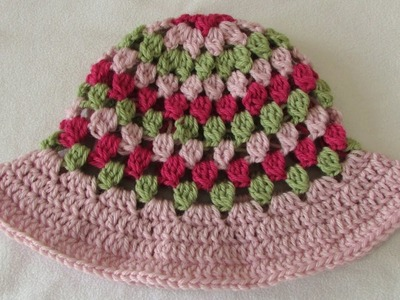 How to crochet a pretty baby. children's sun hat - summer hat tutorial