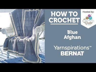 How to Crochet an Afghan: Blue Afghan