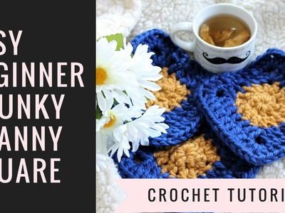 How to Crochet Bulky Granny Squares for Coasters.Blanket