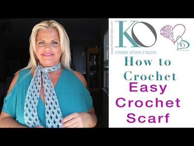 How to Crochet Fine Nikki Crochet Lace Scarf Easy Quick Gift
