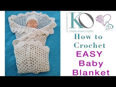 How to Crochet Grace Tender Baby BLANKET Slow for Beginner
