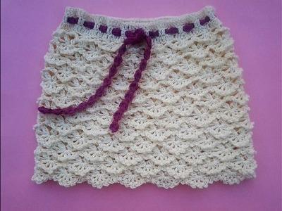 How to crochet skirt fans