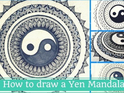 How to draw Yin-Yang Mandala | Creative Chhori | Annu Verma