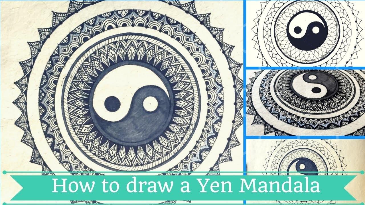 How to draw Yin-Yang Mandala   Creative Chhori   Annu Verma