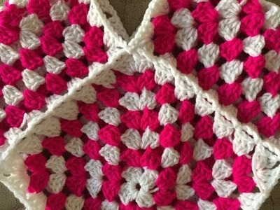 How to - join Granny squares - as you go - crochet - English