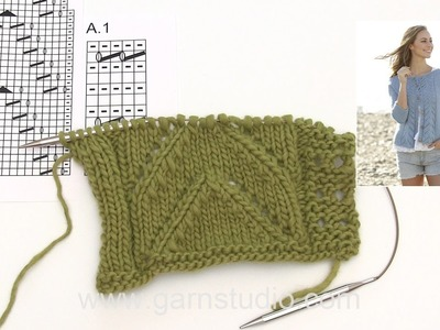 How to knit A.1 and A.2 for the jacket in DROPS 177-21