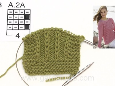 How to knit A.2 for the jumper in DROPS 175-19