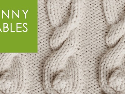 How to Knit a BUNNY CABLE Stitch Pattern
