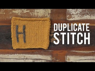 How to Knit Duplicate Stitch | Interweave Yarn Hacks