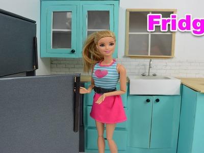 How To Make A Barbie Refrigerator! Barbie Really Talks! - Barbie Videos