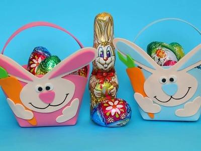 How to make an Easter Basket  - Cute Easter Bunny Basket  DIY - Easy  Easter Craft