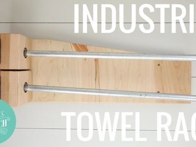 How to Make an Industrial Towel Rack. Woodworking