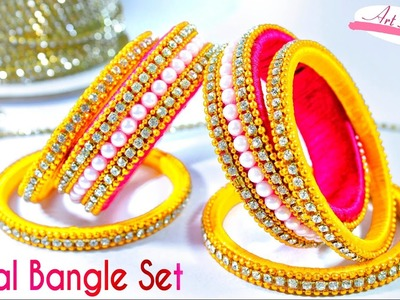 How to make Bridal designer silk thread bangles set | silk thread bangles | Tutorial | Artkala 142