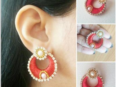 How to make Chandbali Silk Thread Earring Tutorial