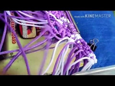 How to make designer purse with macrame
