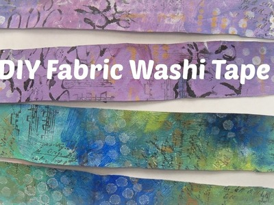 How to make fabric washi tape