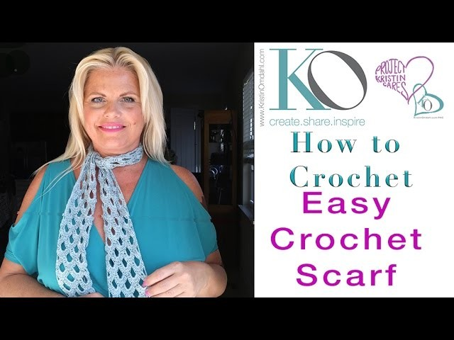 How to Make Fine Nikki Crochet Lace Scarf SLOW for Beginners
