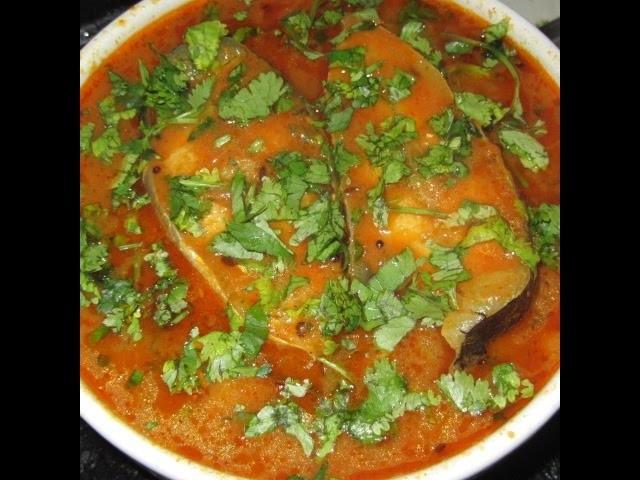 How to Make Fish Curry in Telugu (Chepala Pulusu) telugu with english subtitles