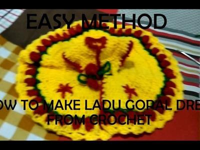 HOW TO MAKE LADU GOPAL DRESS (FROM CROCHET)(HINDI)