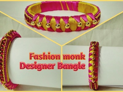 How To make New Model Designer Bangles | Silk Thread Bangle Making Tutorial