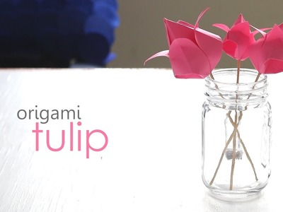 How to make Origami Tulip
