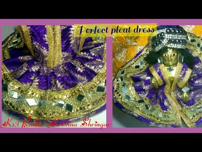 How to make Perfect Pleat.Ghera dress for Laddu Gopal,Full Drafting,Cutting,Stitching,part-2.2