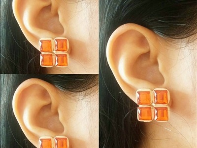 How To Make Quilling Stud Earring Tutorial.Design 22