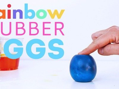 How to Make Rainbow Rubber Eggs. Perfect for the science fair!