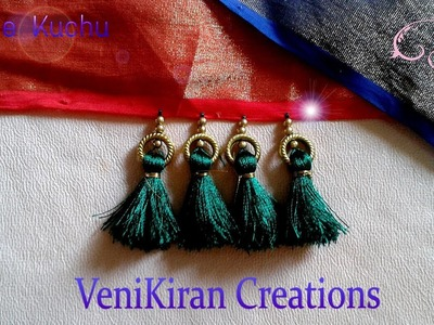 How to Make Saree Tassel.Kuchu design with Beads at Home - Design 16::Tutorial