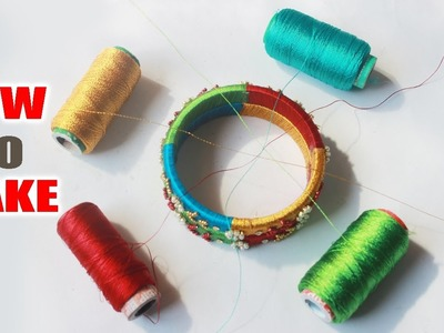 How to Make Silk Thread Bangles Tutorial | Latest Thread bangles| Zooltv