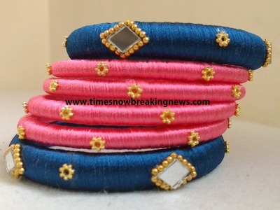 How to make silk thread bangles at home | indian silk thread bangles, silk thread bangles tutorials,