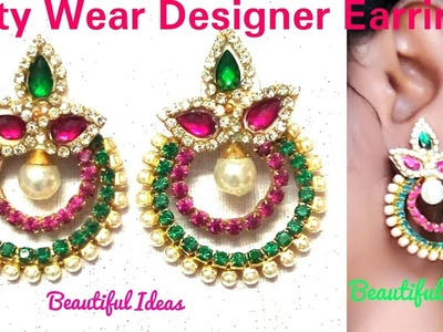 How to Make Silk thread Designer party wear Earrings.Silk thread Hoop Designer Party Wear Earrings.