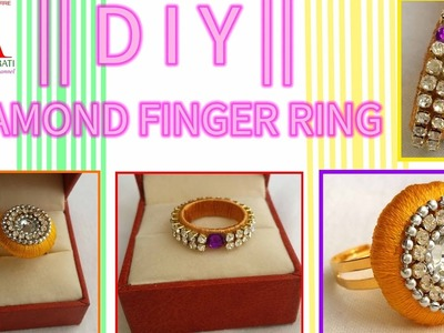 How to make silk thread Designer Diamond Ring | Make it easy and simple | DIY
