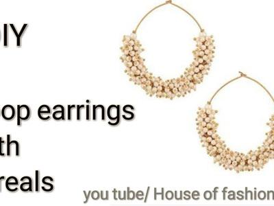 How To Make Silk Thread Hoop Earings||Loreal Jewellery Making