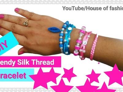 How To Make Silk Thread Bracelet||Trendy Bracelet For  Girls