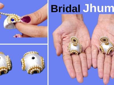 How to make Silk Thread Jhumka making video | DIY Jewellery
