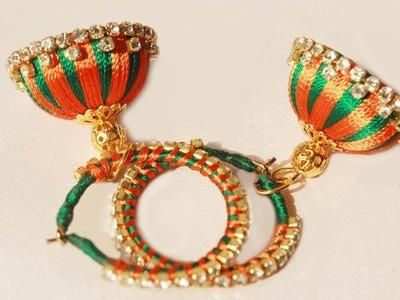 How To Make Silk Thread Jhumkas Hoop Style | latest silk Thread Jhumkas